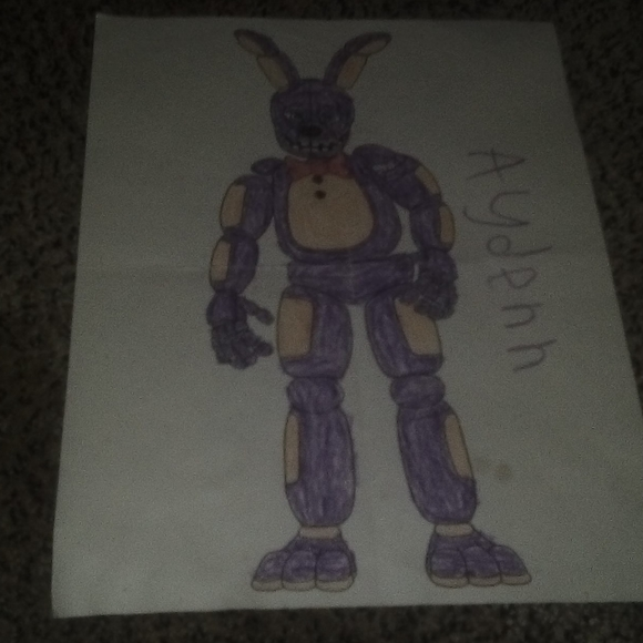 Other Spring Bonnie Coloring Page Five Nights At Freddy Poshmark